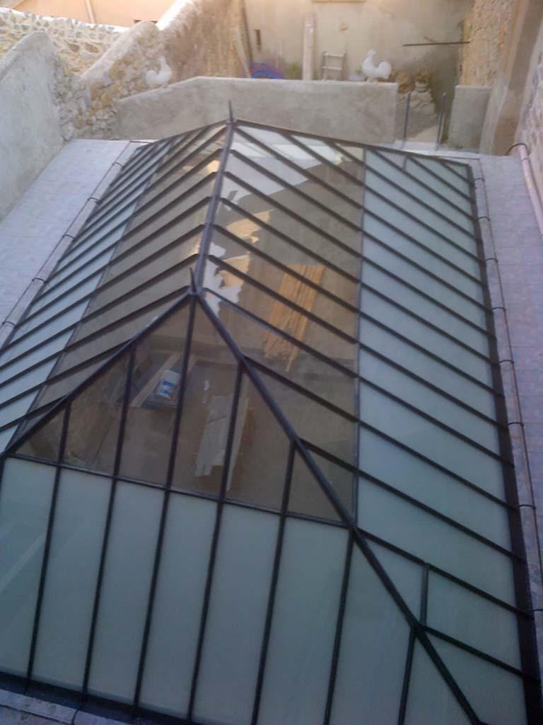Rénovation verrière Gruissan en verre feuilleté opaque et transparent