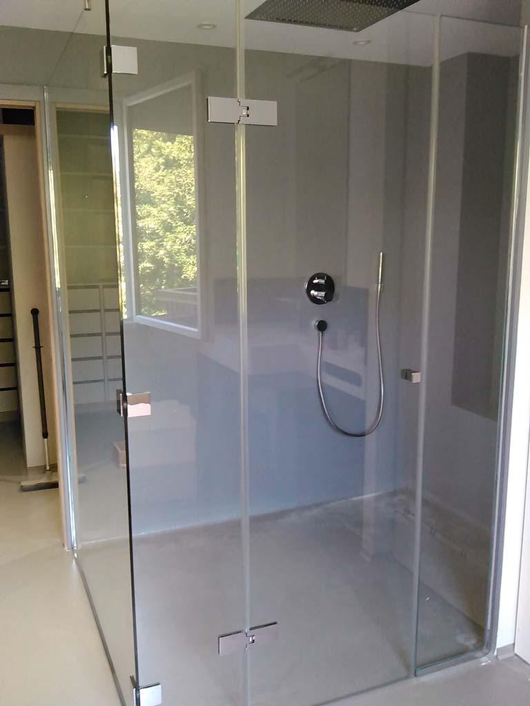Cabine de douche sur mesure en verre