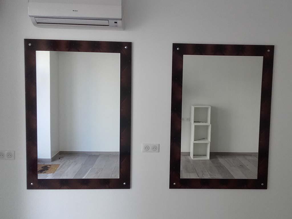 miroir + bois stratifié
