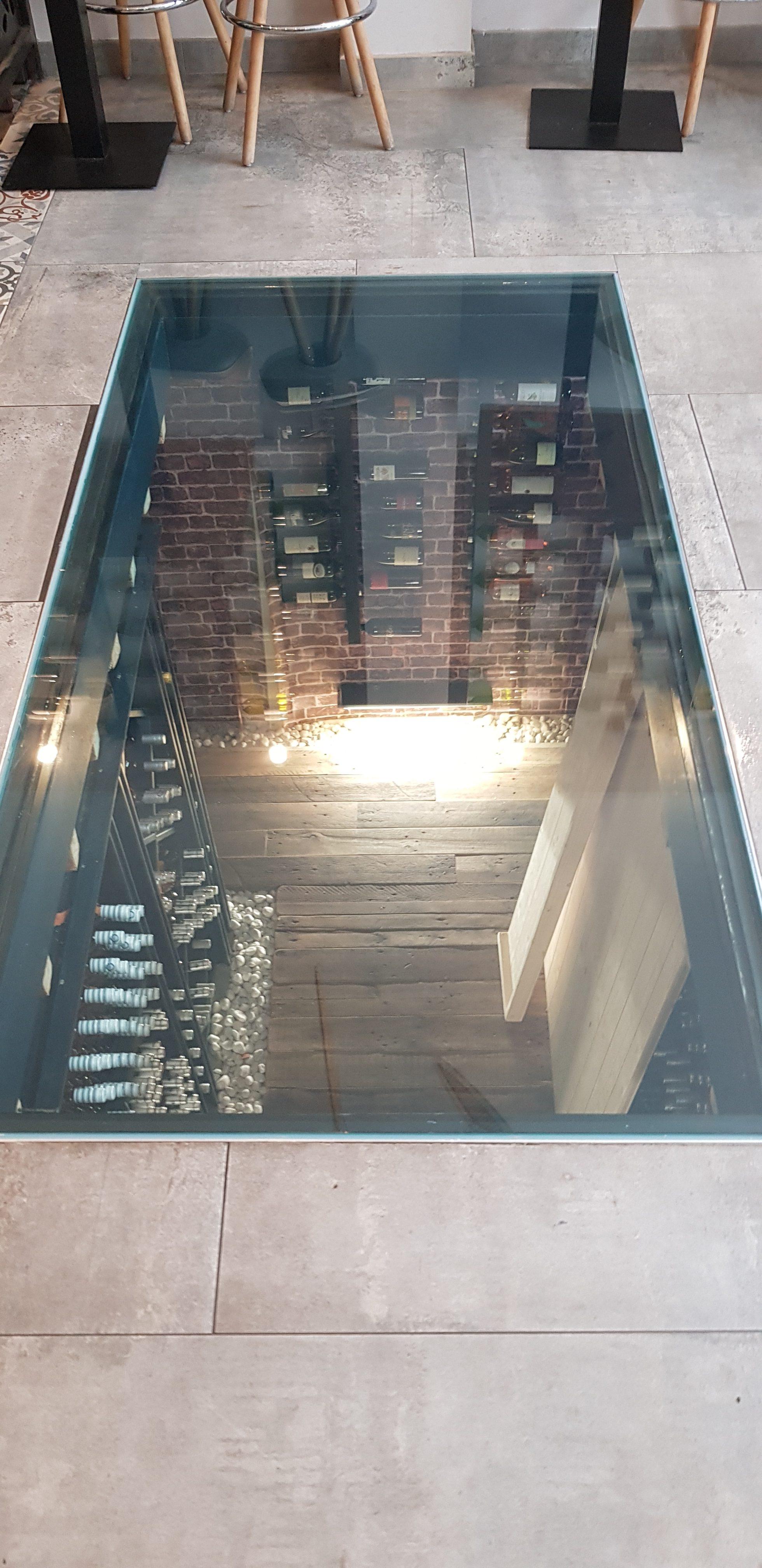 galerie - dalle en verre au sol