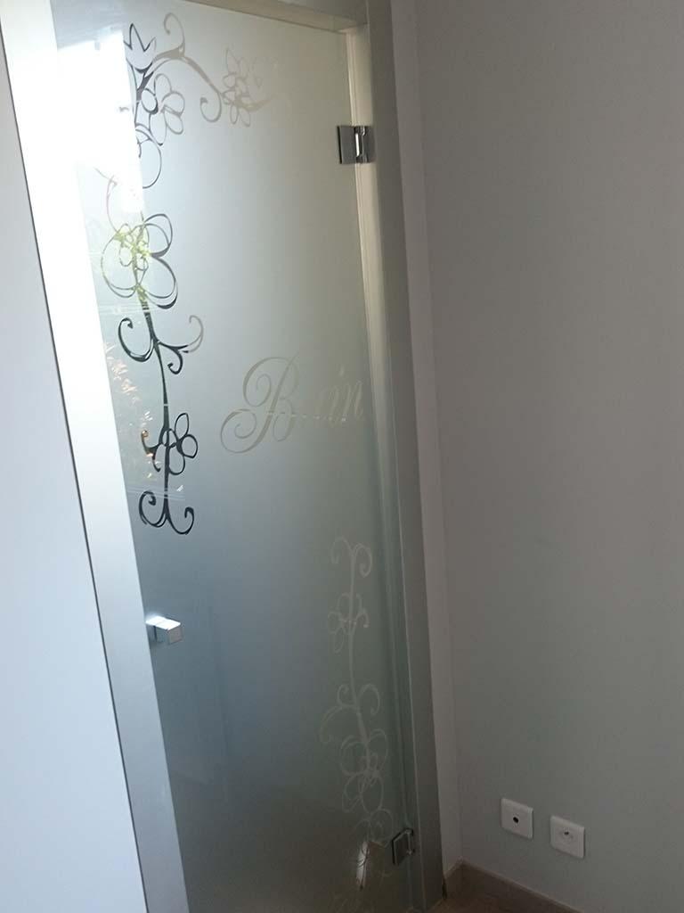 Porte de séparation avec sablage