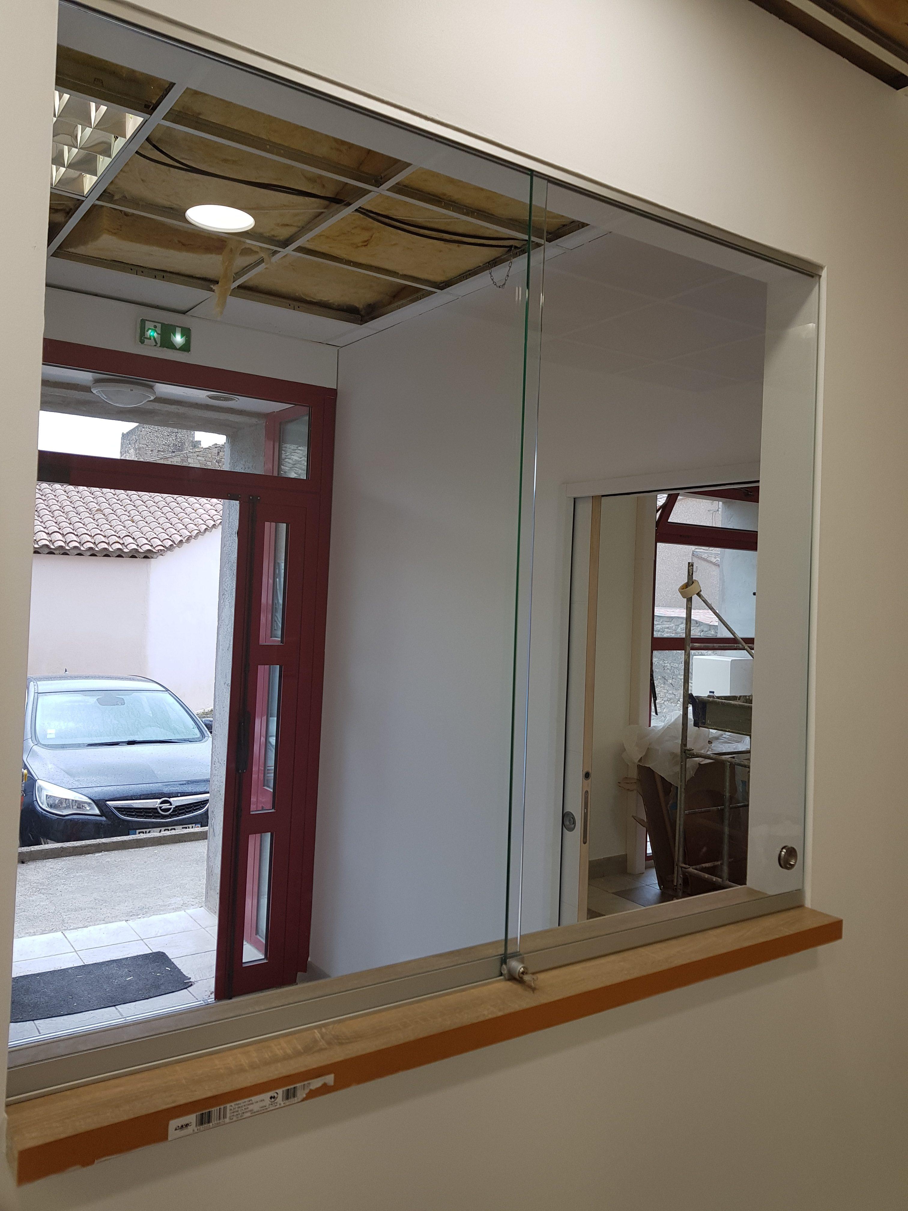 fenêtre de séparation en verre